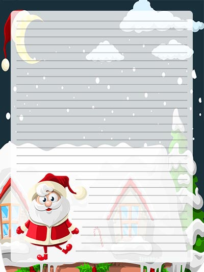 Christmas Writing Paper FREE Santa