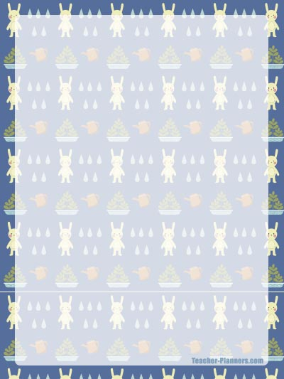 cute rabbits writing paper