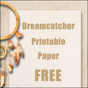 dreamcatcher printable note paper