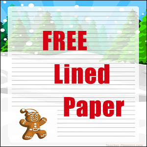 Free Christmas Writing Paper - Gingerbread Man
