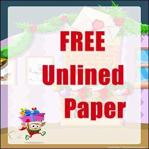 Unlined Christmas Writing Paper FREE - Elf