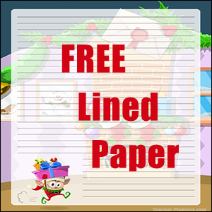 Christmas Writing Paper FREE - with an Elf
