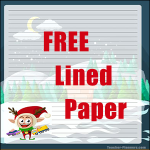 Christmas Writing Paper FREE 05