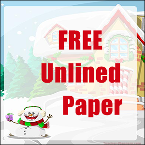 Christmas Writing Paper FREE - Crazy Snowman