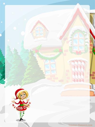 Christmas Writing Paper FREE - Santa's Helper
