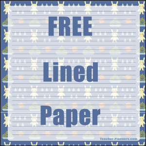 lined paper 4 kids