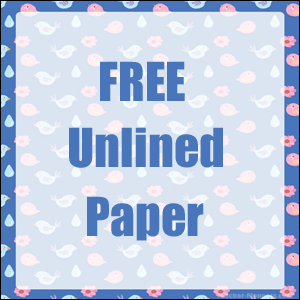 Unlined paper free blue