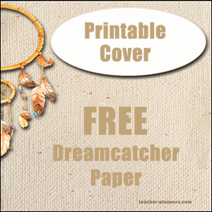printable binder cover - dream catcher