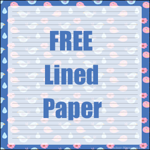 lined paper free blue