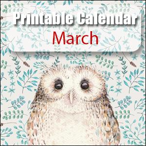 Printable Calendar March