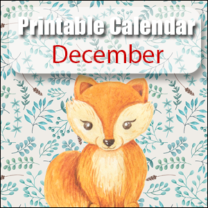 Printable Calendar December