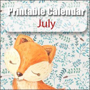 Printable Calendar July
