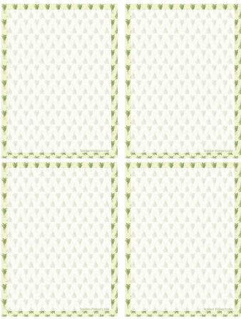 Printable Notepaper - Little Plants