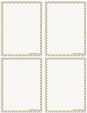 printable notepaper little roses
