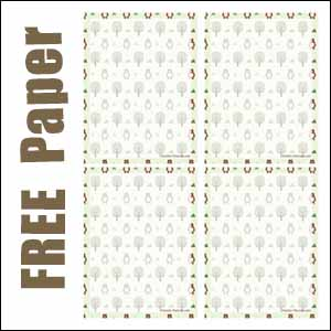 bear trees notepaper