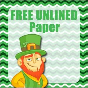 Printable St Patrick's Day Stationery