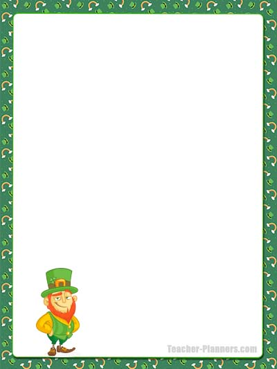 St Patrick's Day Stationery Unlined 1