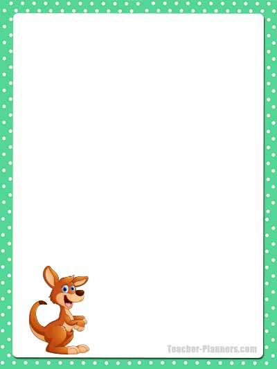 Cute Australian Animals Stationery - Lined 12