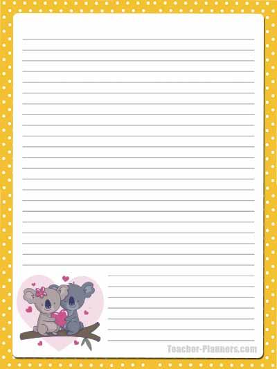 Cute Australian Animals Stationery - Lined 11