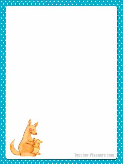 Cute Australian Animals Stationery - Unlined 4