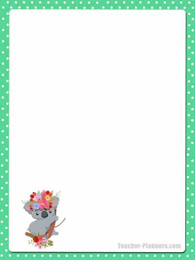 Cute Australian Animals Stationery - Unlined 5