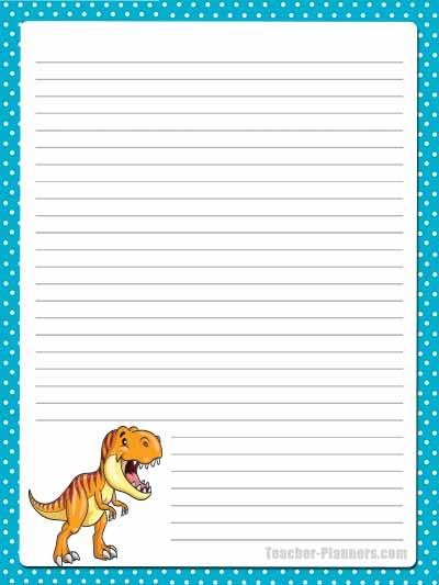 Cute Dinosaur Stationery - Lined 11
