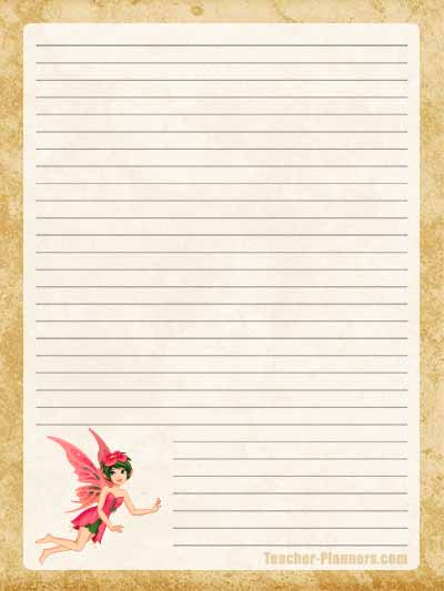 Fairy Stationery Free Printable 10