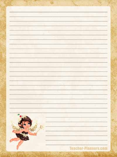 Fairy Stationery Free Printable 11