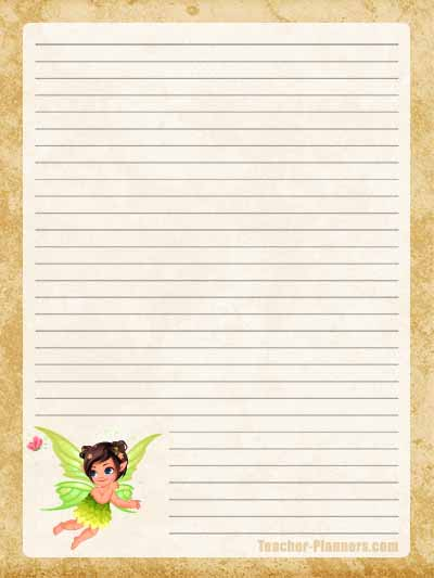 Fairy Stationery Free Printable 12