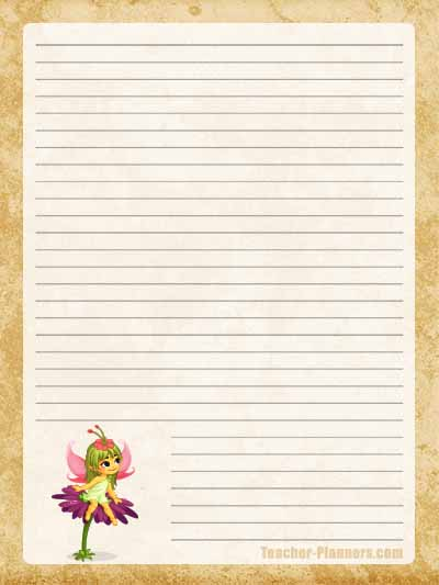 Fairy Stationery Free Printable 13