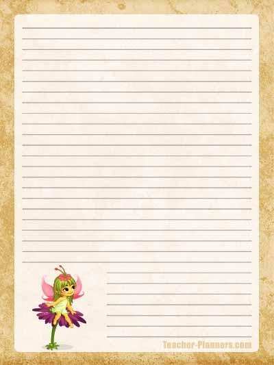 Fairy Stationery Free Printable 2