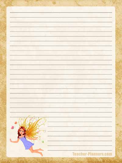 Fairy Stationery Free Printable 4