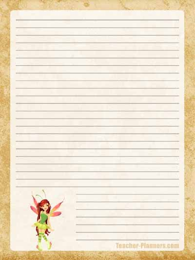 Fairy Stationery Free Printable 7