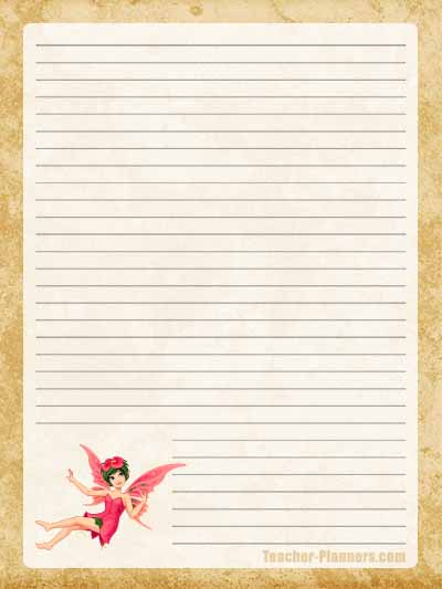 Fairy Stationery Free Printable 8