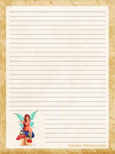 Fairy Stationery Free Printable 9