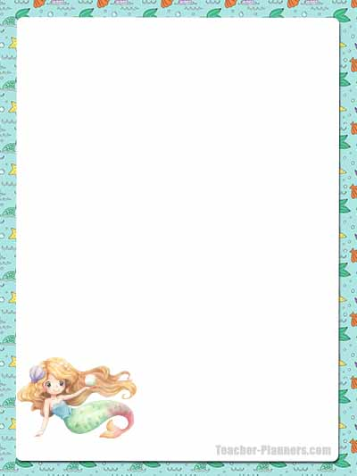 Cute Mermaid Stationery - Unlined 11