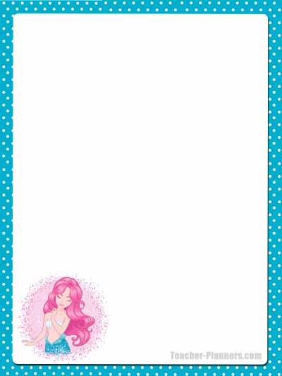 Cute Mermaid Stationery - Unlined 6