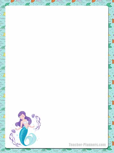 Cute Mermaid Stationery - Unlined 8