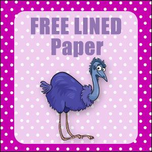 printable australian animals stationery free