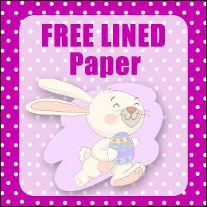 printable bunny stationery free