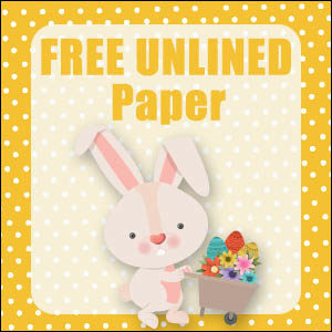 printable bunny stationery free