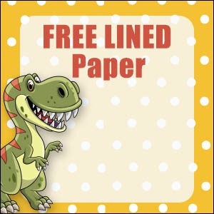 Cute Dinosaur Stationery - Lined 7