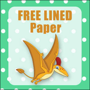 printable dinosaur stationery free