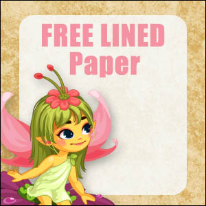 printable fairy stationery free