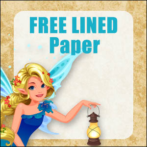 printable fairy stationery free