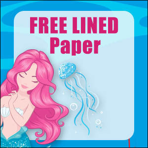 printable mermaid stationery free