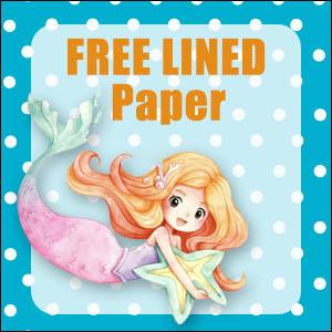 printable mermaid stationery free