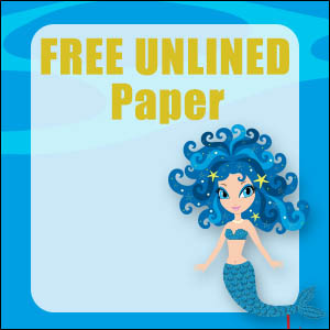 Cute Mermaid Stationery - Unlined 13