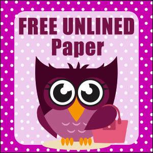 printable owl stationery free
