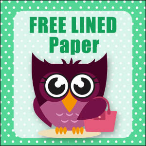 printable owl stationery free